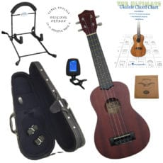 LU-11 Super Ukulele Pack 4 – Ukulele – Stand – Case – Tuner – Strings – Book