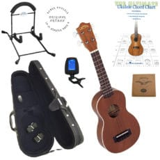 LU-21 Super Ukulele Pack 4 – Ukulele – Stand – Case – Tuner – Strings – Book
