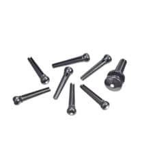 Pair Planet Waves Solid Brass End Pins Black
