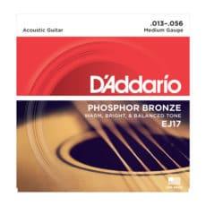D'Addario EJ17 Phosphor Bronze Acoustic Guitar Strings – Medium – 13-56