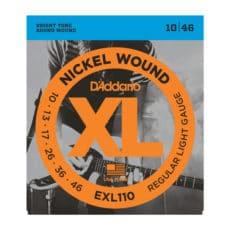 D'Addario EXL110 Nickel Wound Electric Guitar Strings – Regular Light – 10-46