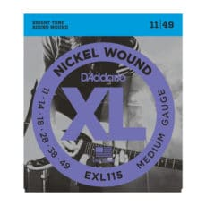 D'Addario EXL115 Nickel Wound Electric Guitar Strings – Medium/Blues-Jazz Rock – 11-49