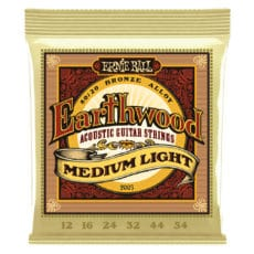Ernie Ball 2003 – Earthwood 80/20 Bronze Acoustic Guitar Strings – Medium Light – 12-54
