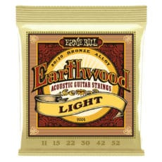 Ernie Ball 2004 – Earthwood 80/20 Bronze Acoustic Guitar Strings – Light – 11-52