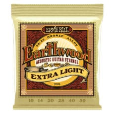 Ernie Ball 2006 – Earthwood 80/20 Bronze Acoustic Guitar Strings – Extra Light – 10-50