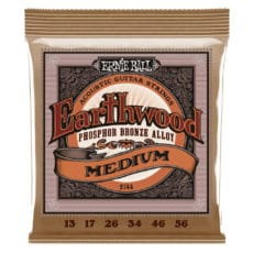 Ernie Ball 2144 – Earthwood Phosphor Bronze Acoustic Guitar Strings – Medium – 13-56