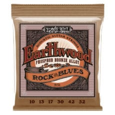 Ernie Ball 2151 – Earthwood Phosphor Bronze Acoustic Guitar Strings – Rock & Blues – 10-52