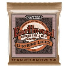 Ernie Ball 2153 – Earthwood Phosphor Bronze Acoustic Guitar Strings – 12 String – Light – 9-46
