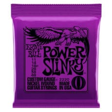 Ernie Ball 2220 – Power Slinky Nickel Wound Electric Guitar Strings – 11-48