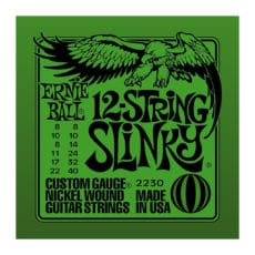 Ernie Ball 2230 – 12 String – Slinky Nickel Wound Electric Guitar Strings – 8-40