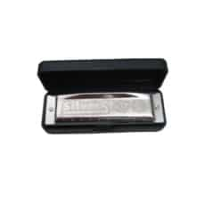 Hohner Silver Star Harmonica – Harp – Mouthorgan – Key of D – With Free Lessons