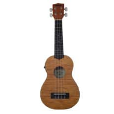 Kala KA-SEME – Electro Soprano Exotic Mahogany Ukulele with Built In EQ & Tuner