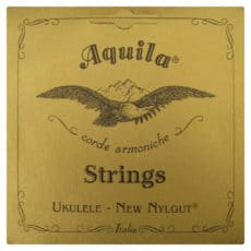 Banjo Ukulele – Banjolele Strings – Aquila Genuine Gut Set – Soprano Regular High G Tuning – 43U