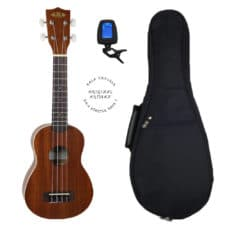 Kala KA-S Ukulele Pack 1 With Padded Case & Ukulele Tuner